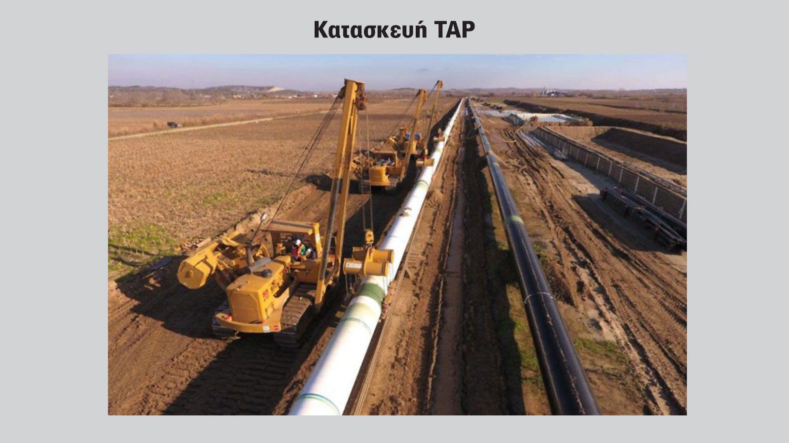 Μεγάλα έργα πνοής και στόλος HCV οχημάτων. Φωτό από μέρος των έργων κατασκευής του αγωγού TAP.