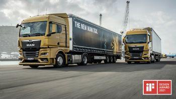 Βραβείο συνολικής αρμονίας υλικών και χρωμάτων κέρδισαν τα νέα γενιάς φορτηγά της ΜΑΝ στον διαγωνισμό iF DESIGN AWARD 2021, με το νέο ΜΑΝ TGX να διακρίνεται επιπλέον για τη λειτουργικότητα της σχεδίασής του. Συνεχίζει να μαζεύει βραβεία το νέο MAN TGX και μετά από τον επίζηλο τίτλο «Φορτηγό της Χρονιάς 2021» κέρδισε και στα βραβεία σχεδίασης – θεσμός iF DESIGN AWARD.