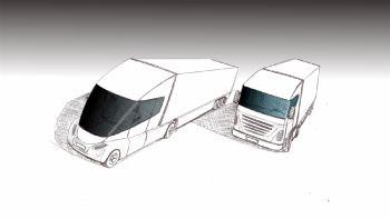 Με βάση τα όσα αποφασίστηκαν πρόσφατα από τα αρμόδια όργανα της ΕΕ, η σχεδίαση και η δομή της καμπίνας των βαρέων φορτηγών αναμένεται να τροποποιηθεί πλήρως (επιμηκυνθεί) έως το 2020. Η νέα σχεδίαση των φορτηγών (αριστερά) θα είναι σημαντικά πιο αεροδυναμική από την τωρινή (δεξιά), διασφαλίζοντας μεταξύ άλλων μεγαλύτερο παρμπριζ και βελτιωμένο αεροδυναμικό συντελεστή.