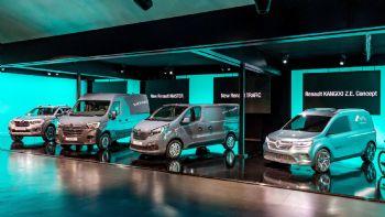 Η Renault αποκάλυψε επίσημα την πλήρη αναβάθμιση των μοντέλων Trafic, Alaskan και Master ενώ, με το πρωτότυπο Kangoo Z.E. Concept, προσφέρει μια πρόγευση της νέας γενιάς του θρυλικού Vanette της. Η Renault παρουσίασε την πλήρως ανανεωμένη γκάμα ελαφρών επαγγελματικών της μεταξύ των οποίων δεσπόζει το πρωτότυπο «Kangoo Z.E. Concept» (δεξιά)