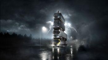 Ο πρόεδρος της Volvo Trucks, Roger Alm, πρωταγωνιστεί σε ένα video πάνω σε έναν ασυνήθιστο «πύργο» ύψους 15 μέτρων, που αποτελείται από την νέα γενιά φορτηγών της εταιρείας! Σε νέα «ύψη» η Volvo Trucks (+video)