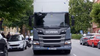 Τα νέα υβριδικά φορτηγά της Scania (vid)